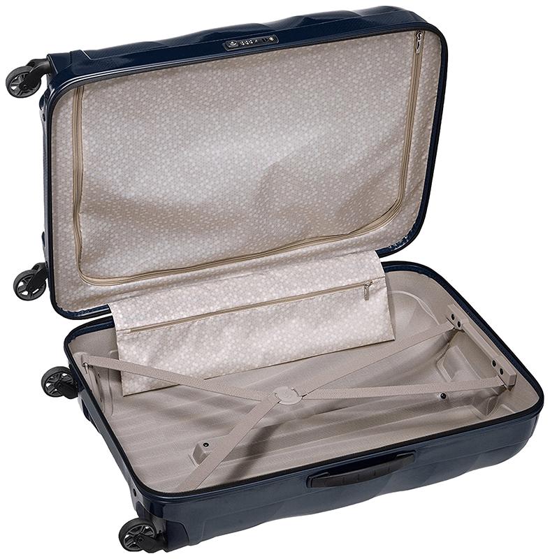 La valise Samsoite Cosmolite fabriquée avec des matériaux innovants, est extrêmement légère