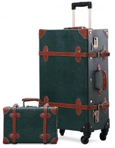 Avec la valise vintage Unitravel, une mallette à maquillage facilement transportable complète le set.