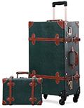 La valise vintage de Unitravel est très complète avec ses 4 roues et son grand espace de rangement